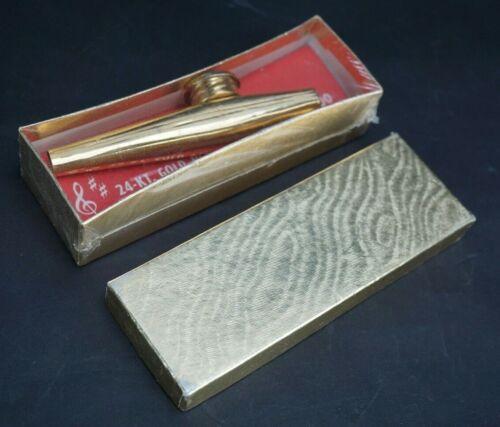 Vintage S.J. Miller 24K Gold Plated Humdinger Kazoo NIB