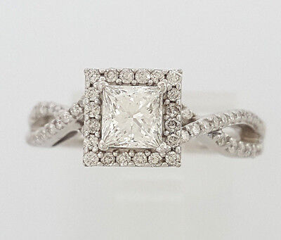 0.77 ct 14K White Gold Princess Cut Diamond Engagement Ring GIA G / VS2 4