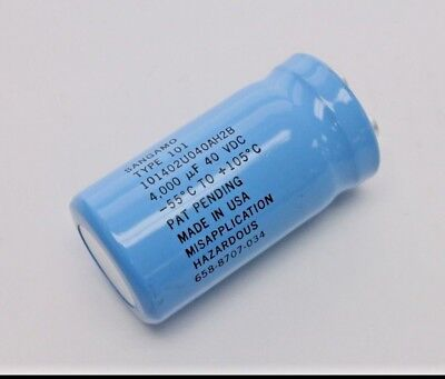 Sangamo 101402u040ah2b 4000uf 40v Screw Terminal Electrolytic Capacitor Qty-2