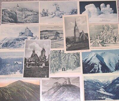 14 Stück AK Riesengebirge Schlesien Postkarten vor 1945 Lot Sammlung LOT07919