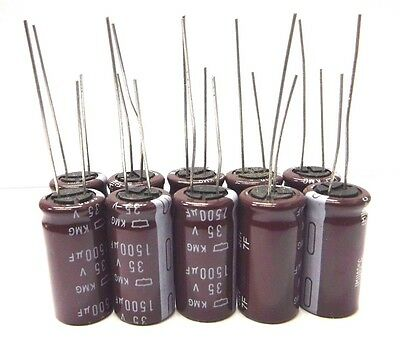 10pcs Electrolytic Capacitors 35v 1500uf Volume 13x25mm 1500uf 35v