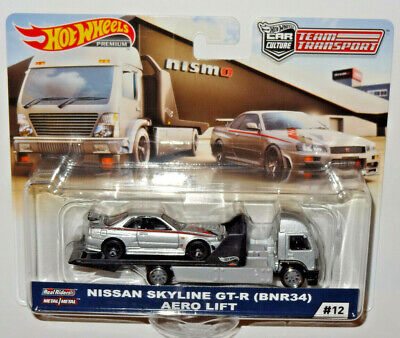 HOT WHEELS CAR CULTURE TEAM TRANSPORT NISMO NISSAN SKYLINE GT-R & AERO LIFT