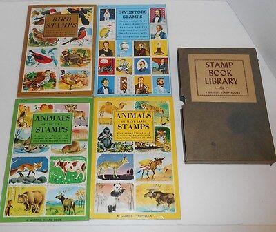 Vintage Gabriel 1955 Bird Animal Inventors Stamp Book Library