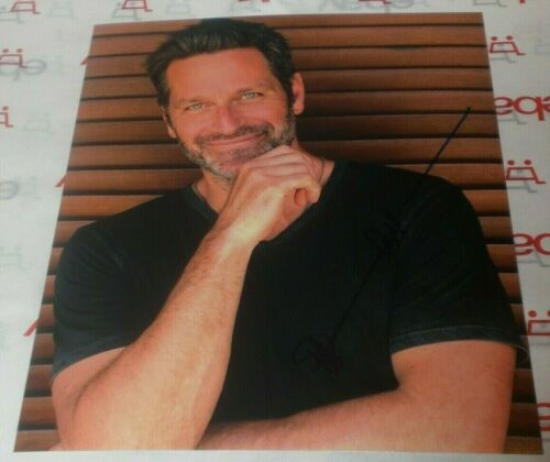 PETER HERMANN SIGNED HOT SMILING RUGGED HUNK 8X10 PHOTO AUTOGRAPH COA YOUNGER