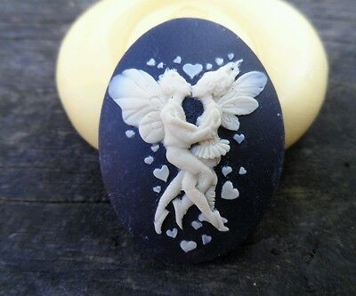 Fairies  cameo silicone push mold mould polymer clay resin Wax food safe