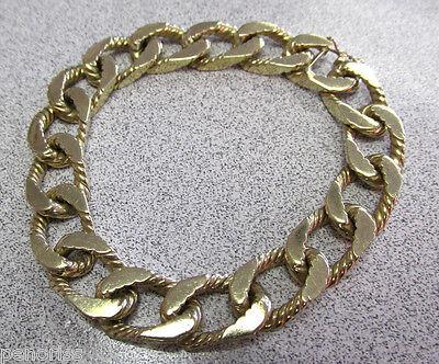 14k Gold Hidden Clasp - 14k Solid Gold Link Bracelet 8 inch Hidden Clasp  for Man or Woman   Make Offer