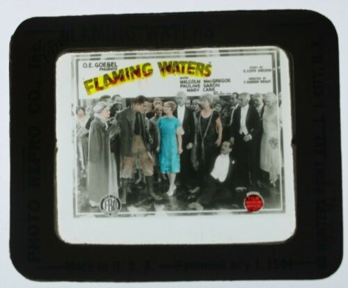 Flaming Waters 1925 glass slide - Malcolm McGregor - free shipping
