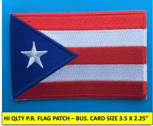 """PUERTO RICO FLAG PATCH EMBROIDERED APPLIQUE IRON-ON SEW-ON (3 1/2"""" x 2 1/4"""")"""