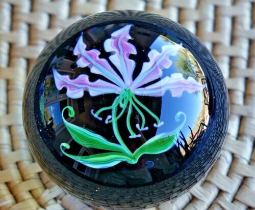 1983 Correia Glass Paperweight, Limited Edition, 1/100, BGLCT, Rare and Signed
