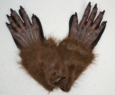 Werewolf Hands Adult Halloween Costume Gloves, One Size