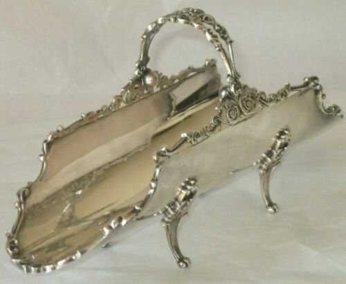 BEAUTIFUL! ANTIQUE 800 SILVER ORNATE LONG FOOTED BREAD SWEETS BASKET BOWL 227 gr