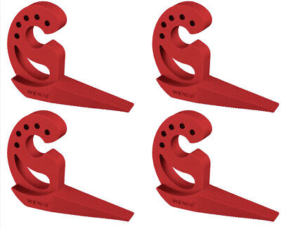 4 Stück Wenko Türstopper rot Fensterstopper Wandpuffer Möbelschutz Tür Stopper