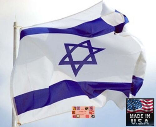 *USA MADE 3x5 foot ISRAEL JEWISH Star Of David Super-Poly In/outdoor FLAG Banner