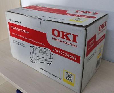 Genuine Original OKI C3200 / C3200n Image Drum / Toner Yellow 42126662 NEW