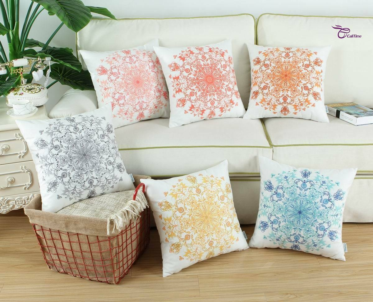 CaliTime Cushion Covers Pillow Cases Home Sofa Decor Secret