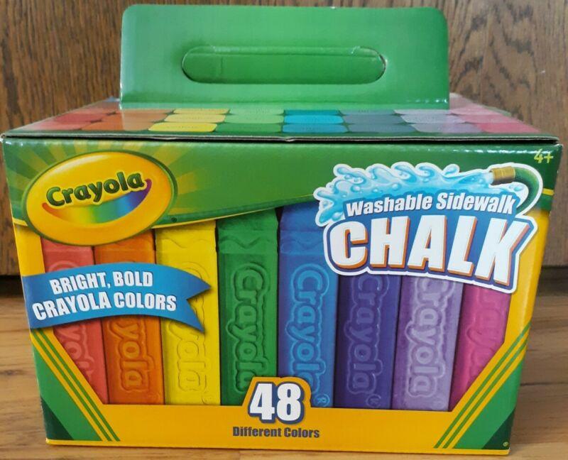 Crayola Washable Sidewalk Chalk, Assorted - 48 Count