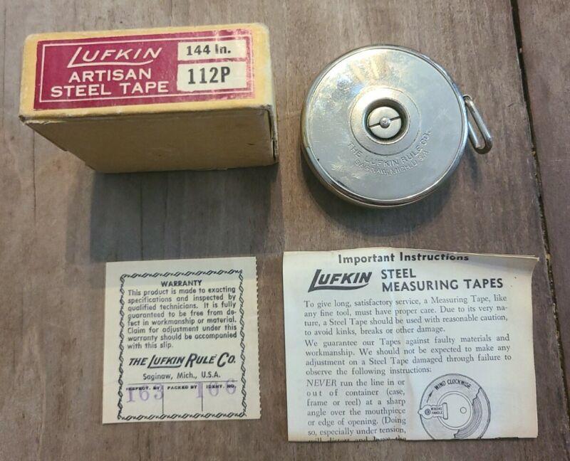 Lufkin 114 in 112P Artisan Steel Tape. Boxed