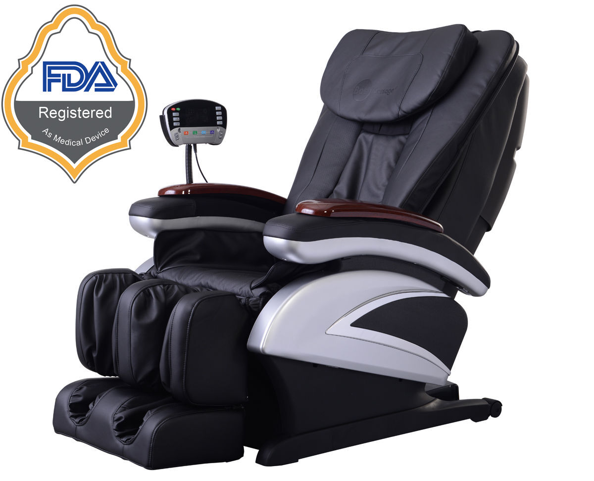 New Electric Full Body Shiatsu Massage Chair Recliner Heat Stretched Foot Rest