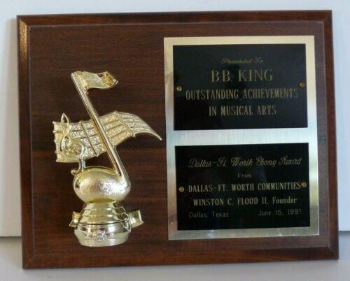 BB King OWNED Outstanding Achievements Award 1991 JULIEN
