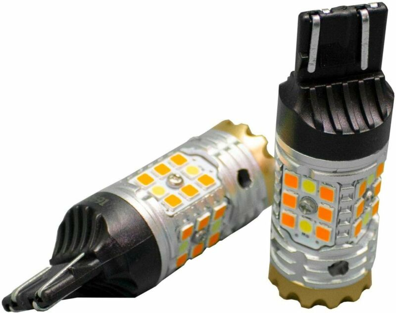 Race Sport RS7443SBWA - 7443 NO-RAPID FLASH Canbus Turn signal LED Bulbs -...
