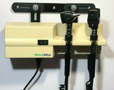 Welch Allyn 767 Wall Transformer Otoscope Ophthalmoscope Heads Mount Bracket