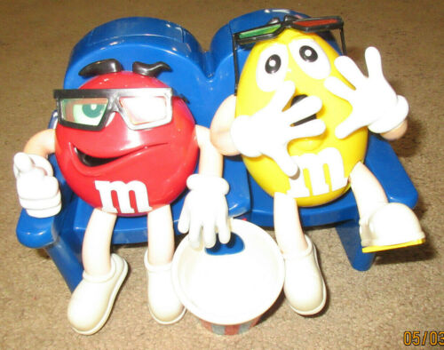 M&M Candy Dispenser: Red & Yellow M&M Character