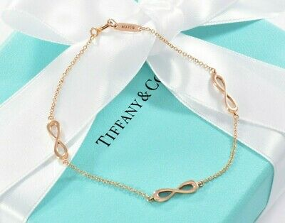 "Tiffany & Co 18k Rosegold Endlos Infinity Armband Größe Medium 7"" in Box Beutel (Rose Gold Infinity-armband)"