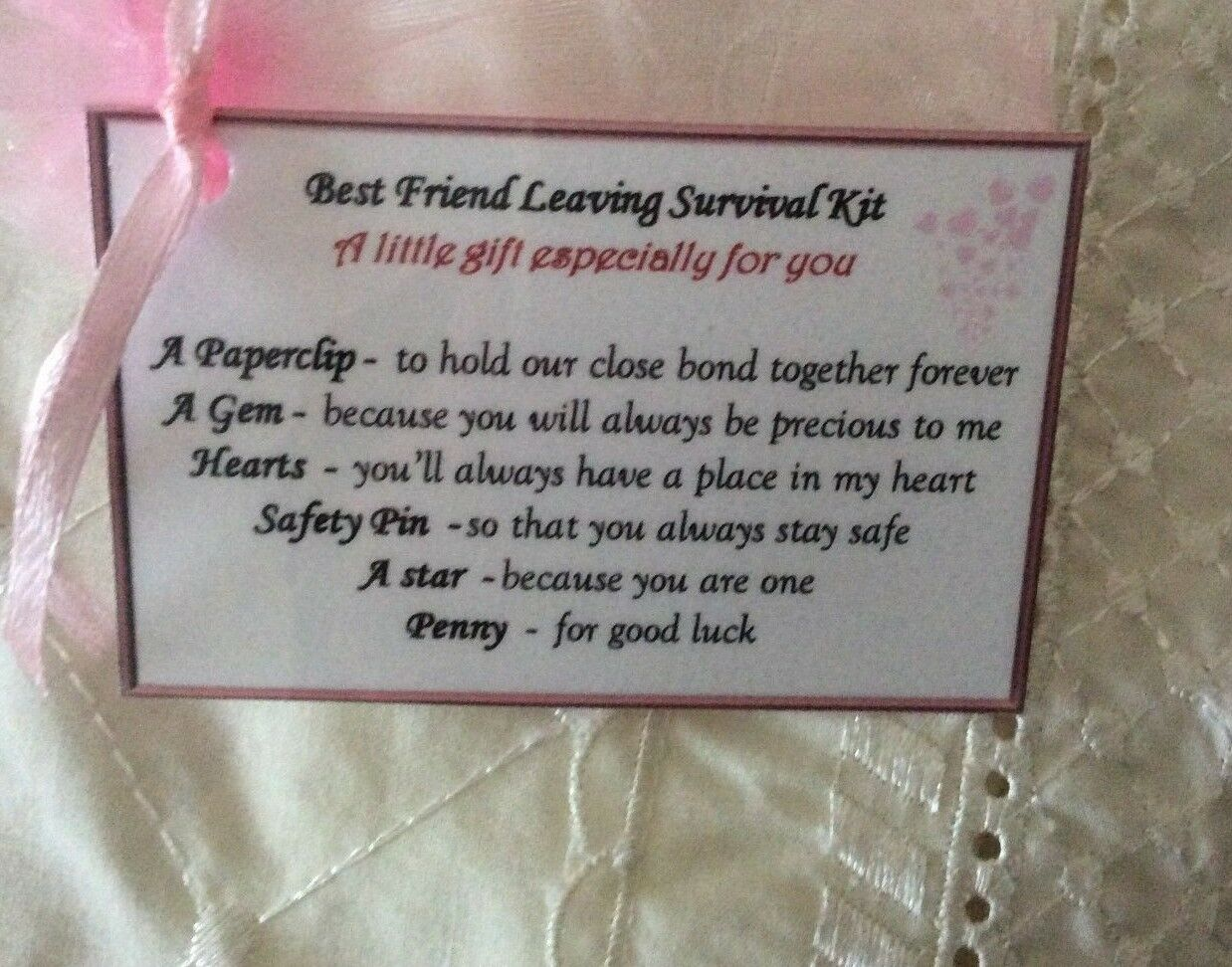 BFF Keepsake Gift For My Best Friend Leaving Novelty Birthday Her