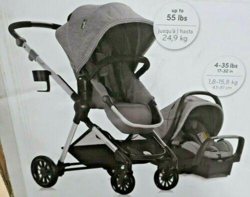 Evenflo Baby Pivot Xpand Travel System with SafeMax Car Seat Percheron Gray WH2