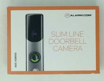 ALARM.COM SECURITY ADC-VDB105 SATIN NICKEL SLIMLINE DOORBELL CAMERA ALARM