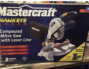 Brand new mitre saw with laser line