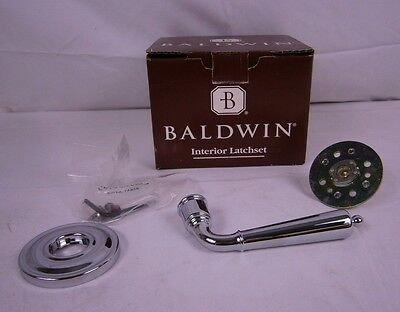 Baldwin Images Collection 5440-260RDM Polished Chrome Half Dummy Lever Set 256HW Baldwin Images Half Dummy