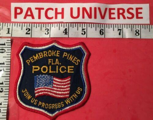 PEMBROKE PINES FLA POLICE  SHOULDER  PATCH  G027