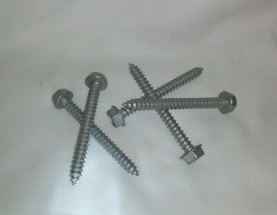 Lag Bolt Screw 516 X 3 Hwh Gr5 Stainless Steel Lot Of Brand New