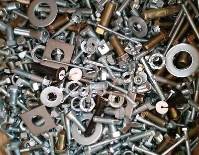 5 Lbs Assorted Screws Nuts Pins Bolts Washers Nails And More
