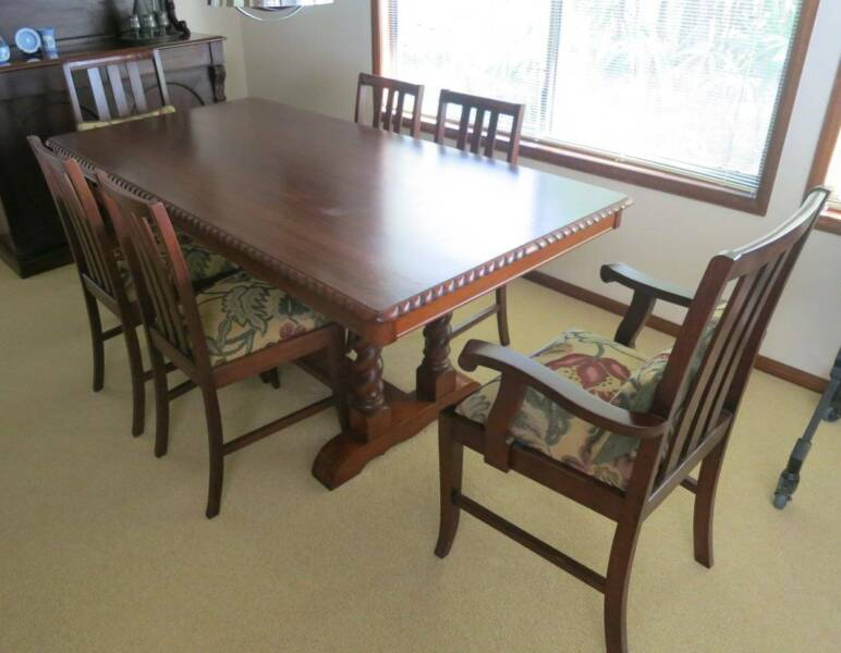 Vintage Dining Room Table Six Chairs Dining Chairs Gumtree Australia Brisbane North West The Gap 1260192262