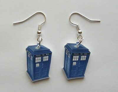Doctor Who Tardis (Police Call booth)  Earrings   Dr Who earrings