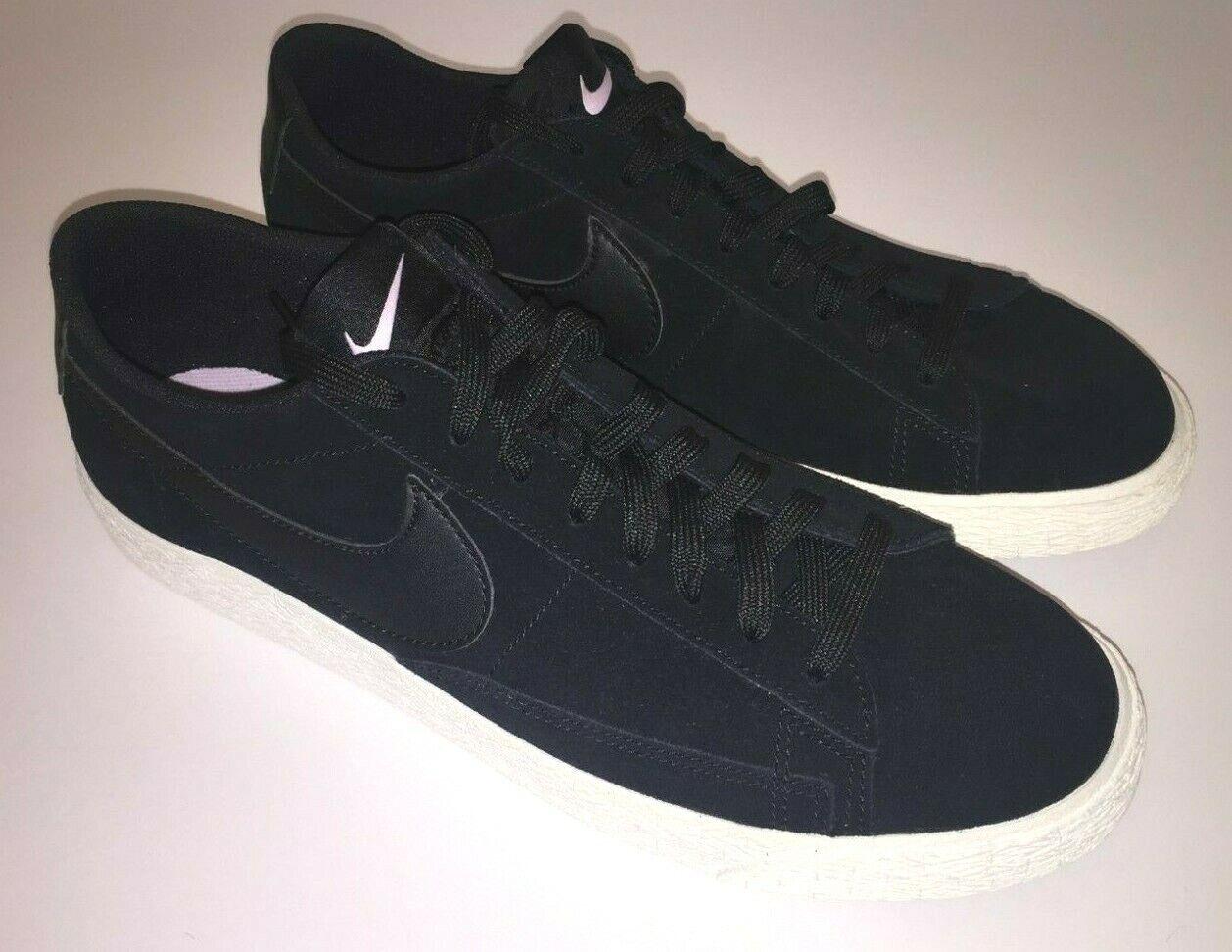 Nike SB Zoom Blazer Low GT Black Skate Shoes Suede 371760 02