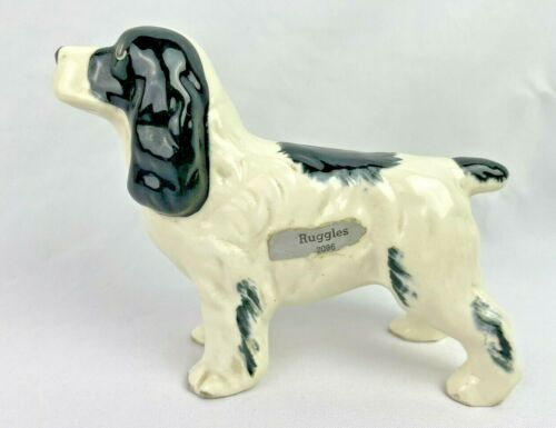 VINTAGE PORCELAIN CERAMIC SPANIEL DOG FIGURINE RUGGLES 2096 ROBERT SIMMONS