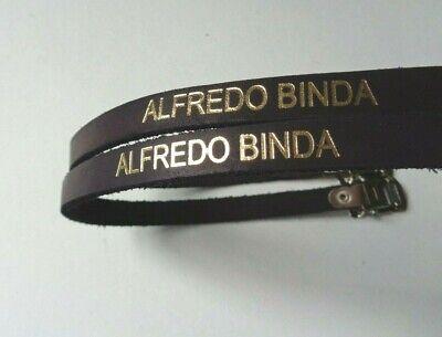 ALFREDO BINDA CINTURINI FERMAPIEDI NOS ATALA toe straps leather BLUE GOLD