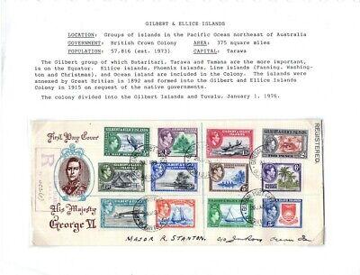 Kenr2: Gilbert & Ellis 1939 King George VI FDC