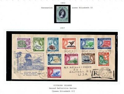 Kenr2: Pitcairn Island 1957 Queen Issue FDC