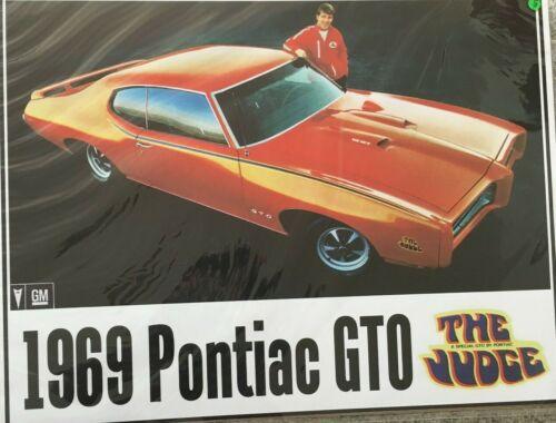 "1969 Pontyiac GTO The Judge 24""X32"" Poster."