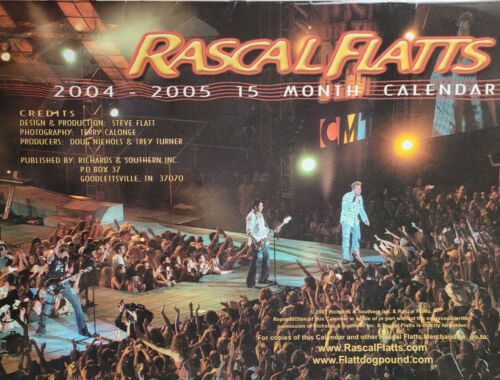 Rascal Flatts 2004 - 2005 Wall Calendar Live Country Music Performance Photos