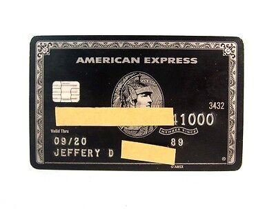 Authentic American Express Amex Centurion Titanium Black Card 2020 Expiration