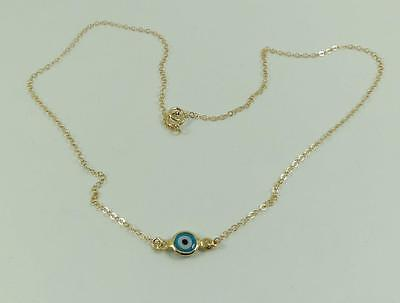 14k Gold Fill Necklace - New delicate high quality 14k U.S.A gold filled evil eye pendant necklace!