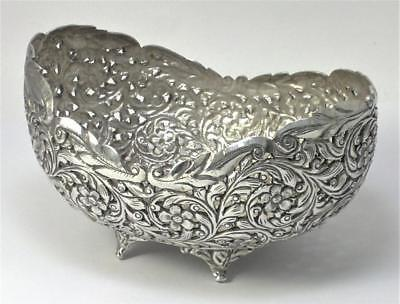 Antique/Vintage Indian Sterling Silver Bowl – early/mid 20th century  (194g)