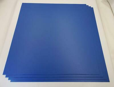Blue Abs Plastic Sheet 0.0394 1mm X 17-14 X 21-14 Qty 4
