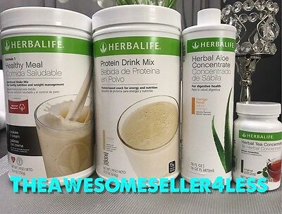Herbalife Formula 1 Shake Mix  Protein Shake  Aloe Concentrate And Herbal Tea