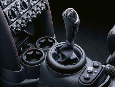 MINI Genuine JCW Gear Shift Stick Knob Leather+Carbon R50 R52 R53 25110396878